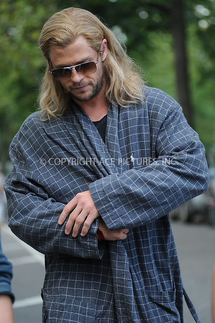 WWW.ACEPIXS.COM . . . . . .September 2, 2011, New York City....Chris Hemsworth on the  movie set of the Avengers in Central Park on September 2, 2011 in New York City in New York City....Please byline: KRISTIN CALLAHAN - ACEPIXS.COM.. . . . . . ..Ace Pictures, Inc: ..tel: (212) 243 8787 or (646) 769 0430..e-mail: info@acepixs.com..web: http://www.acepixs.com .