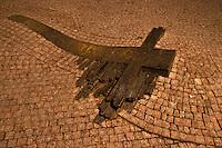 Wenzelsplatz (Vaclavske namesti), Gedenkkreuz Jan Palach, Prag, Tschechien