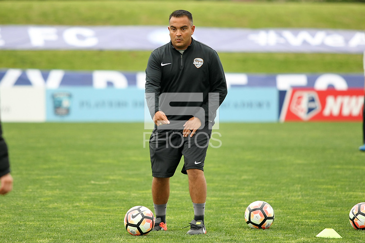 Piscataway, NJ - Saturday May 20, 2017: Omar Morales prior to a regular season National Women's Soccer League (NWSL) match between Sky Blue FC and the Houston Dash at Yurcak Field.  Sky Blue defeated Houston, 2-1.