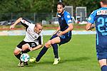 09.07.2017, Sportplatz, Ottobeuren, GER, FSP, SV Sandhausen vs FC Z&uuml;rich, im Bild Korbinian Vollmann (Sandhausen #22), Alain Nef (Z&uuml;rich #13), Fabian Rohner (Z&uuml;rich #23)<br /> <br /> Foto &copy; nordphoto / Hafner