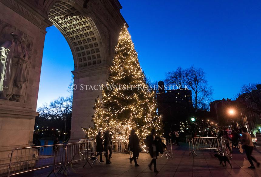 New York, NY 27 December 2016 - Christmas tree in Washington Square Park ©Stacy Walsh Rosenstock