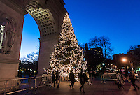 New York, NY 27 December 2016 - Christmas tree in Washington Square Park ©Stacy Walsh Rosenstock