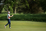 SUGAR GROVE, IL - MAY 29: Dylan Meyer of the University of Illinois hits an approach shot during the Division I Men's Golf Individual Championship held at Rich Harvest Farms on May 29, 2017 in Sugar Grove, Illinois. Meyer tied for sixth place with a -4 score. (Photo by Jamie Schwaberow/NCAA Photos via Getty Images)