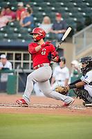 Springfield Cardinals infielder Chris Chinea (26) connects on a pitch on May 16, 2019, at Arvest Ballpark in Springdale, Arkansas. (Jason Ivester/Four Seam Images)
