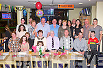 40TH BIRTHDAY: Mike O'Shea, Dromid (back row 5th left) enjoying great fun celebrating his 40th birthday with family and friends at the Kingdom Greyhound Stadium on Saturday.