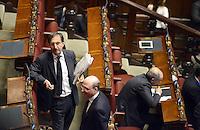 Roma, 15 Marzo 2013.Montecitorio, Camera dei Deputati.Primo giorno in Aula della XVII Legislatura del Parlamento italiano.Ignazio La Russa