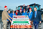 L-R James Maher, Eileen McCarthy, Tess Fitzgerald, Laura Fitzmaurice, Charlie farrelly, Eileen Murphy, Catherine Horan and Jack Shanahan, Back L-R Ava&Sharon Fitzmaurice with Adrain Shanahan, pictured last Friday Nov 29 at Castleisland mart to launch the Christmas Vehicle run which takes place on Dec 22 next in aid of the Kerry Hospice.