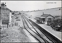 BNPS.co.uk (01202 558833)<br /> Pic: Kivells/BNPS<br /> <br /> Luckett Station in 1963.<br /> <br /> Railway enthusiasts are getting steamy about the prospect of living in this former station master's house - which comes with the old track bed and platform in its back garden.<br /> <br /> Old Luckett Station near Callington, Devon, that is on the market for &pound;700,000, consists of a three bed detached house and an indoor swimming pool and steam room that used to be the ticket office and waiting room.<br /> <br /> Luckett Station served travellers on the old Southern Line from 1908 but was axed as part of the Beeching Cuts in the 1960s.<br /> <br /> The station master's house went into private ownership and each of the occupants has conserved the station instead of tearing it down.