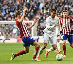 Real Madrid´s Cristiano Ronaldo and Atletico de Madrid´s Gabi during 2015/16 La Liga match between Real Madrid and Atletico de Madrid at Santiago Bernabeu stadium in Madrid, Spain. February 27, 2016. (ALTERPHOTOS/Javier Comos)