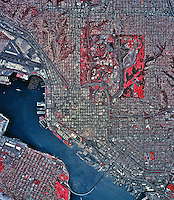 historical infrared aerial photograph of San Diego, California, 2002