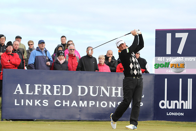 Peter Hanson (SWE) on the 17th in Carnoustie on the 1st Day at the Alfred Dunhill Links Championship, Old Course St. Andrews, Carnoustie and Kingsbarns, Scotland...(Photo Jenny Matthews/www.golffile.ie)