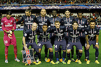 Paris Saint-Germain's team photo with Salvatore Sirigu, Zlatan Ibrahimovic, Alex, Mamadou Sakho, Javier Pastore, Blaise Matuidi, Christophe Jallet, Lucas, Marco Verratti, Maxwell and Ezequiel Lavezzi during Champions League 2012/2013 match.February 12,2013. (ALTERPHOTOS/Acero) /NortePhoto