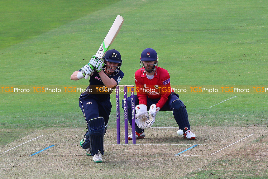 Nick Gubbins in batting action for Middlesex as James Foster looks on from behind the stumps during Middlesex vs Essex Eagles, Royal London One-Day Cup Cricket at Lord's Cricket Ground on 31st July 2016