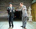 A Mad World My Masters by Thomas Middleton. A Royal Shakespeare Company Production directed by Sean Foley. With  Harry McEntire as Oboe, Richard Goulding as Dick Follywit.  Opens at The Swan Theatre Stratford Upon Avon  on 13/6/13. CREDIT Geraint Lewis