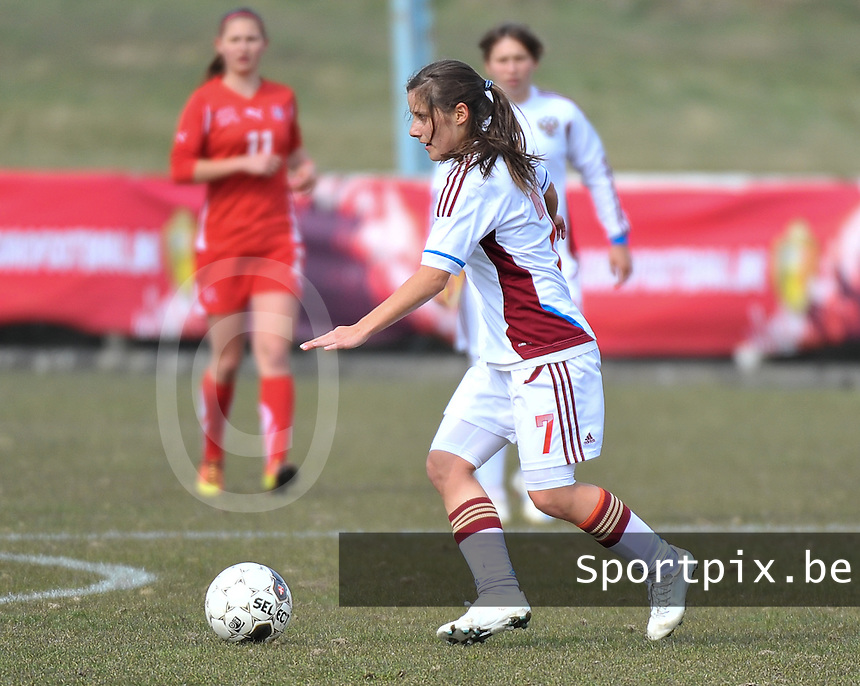 Switzerland U19 - Russia U19 : Anastasia Konyukhova.foto DAVID CATRY / Nikonpro.be