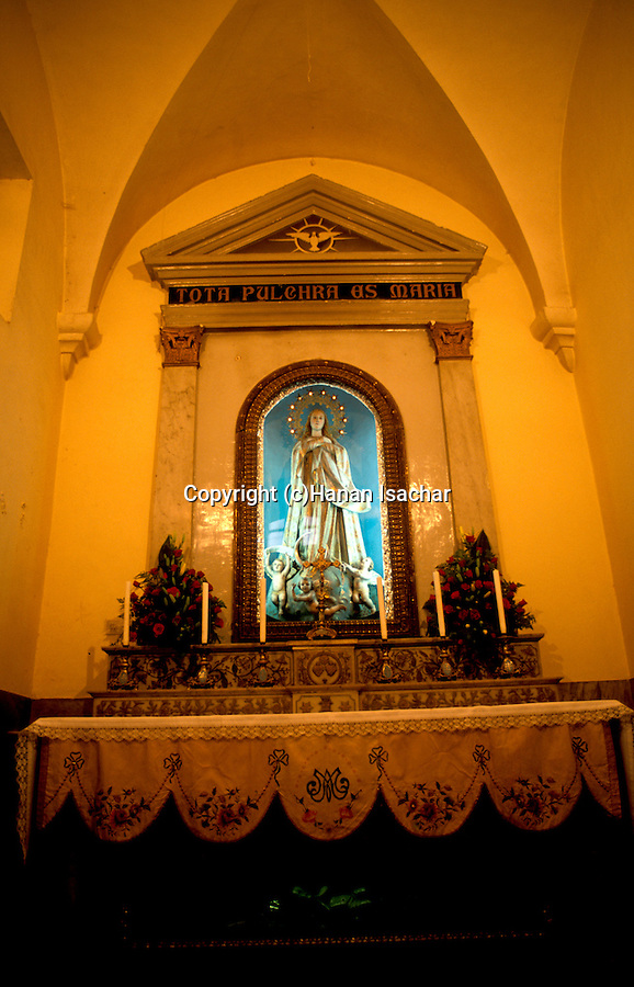Bethlehem, inside the Church of St. Catherine&#xA;<br />