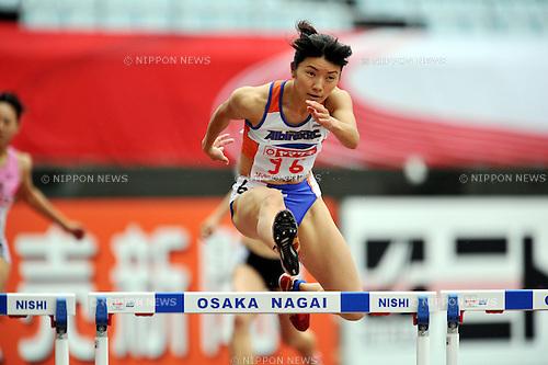 Satomi Kubokura (JPN),  .JUNE 8, 2012 - Athletics : The 96th Japan Athletics National Championships Osaka 2012, Women's 400mH heat at Nagai Stadium, Osaka, Japan. (Photo by Jun Tsukida/AFLO SPORT)