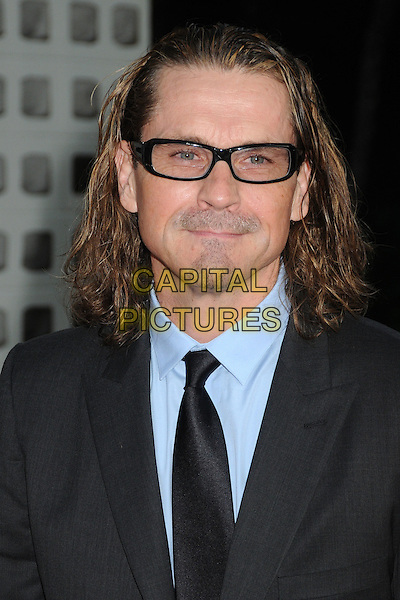 "Kurt Sutter.""Sons Of Anarchy"" Season 4 Premiere Screening held at the Cinerama Dome, Hollywood, California, USA..August 30th, 2011.headshot portrait black blue shirt tie tinted glasses sunglasses shades goatee facial hair .CAP/ADM/BP.©Byron Purvis/AdMedia/Capital Pictures."