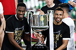 Valencia CF's Gabriel Paulista (l) and Francis Coquelin celebrate the victory in the Spanish King's Cup Final match. May 25,2019. (ALTERPHOTOS/Carrusan)