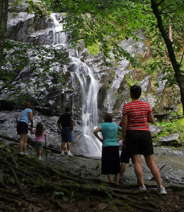 waterfall family hike shenandoah doyles fall