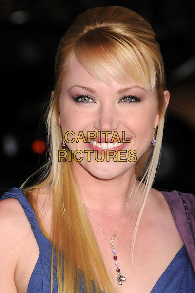 "ADRIENNE FRANTZ.""Leatherheads"" Los Angeles Premiere at Grauman's Chinese Theatre, Hollywood, California, USA..March 31st, 2008.headshot portrait necklace .CAP/ADM/BP.©Byron Purvis/AdMedia/Capital Pictures."