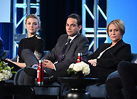 "PASADENA, CA - JANUARY 13: Cast Natalie Dormer, Daniel Zovatto, and Adriana Barraza attend the panel for ""Penny Dreadful: City of Angels"" during the Showtime presentation at the 2020 TCA Winter Press Tour at the Langham Huntington on January 13, 2020 in Pasadena, California. (Photo by Frank Micelotta/PictureGroup)"