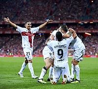 (19) Chimy Avila celebrate goal during the Spanish La Liga soccer match between Athletic Club Bilbao and S.D Huesca at San Mames stadium, in Bilbao, northern Spain, Monday, August, 27, 2018 (Photo: Ion Alcoba Beitia)