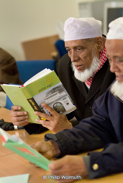 Lunch club for the elderly run by the Marylebone Bangladeshi Society.  The local library in Church Street, run by Westminster City Council, has a Bengali book section.