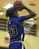 Michael Snowden #23 of Copiage shoots a jumper from beyond the arc during a non-league game against Uniondale in the Richard Brown Nassau-Suffolk Challenge at Uniondale High School on Saturday, Jan. 14, 2017. Uniondale won by a score of 71-62.