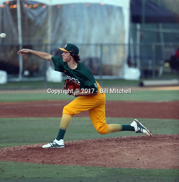 Cody Jensen plays in the 2017 Area Code Games on August 6-10, 2017 at Blair Field in Long Beach, California (Bill Mitchell)