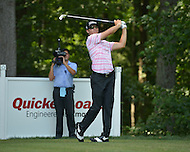 Bethesda, MD - June 28, 2014: Morgan Hoffmann takes a sho from the tee on hole 13 in the third round of the Quicken Loans National at the Congressional Country Club in Bethesda, MD, June 28, 2014.  (Photo by Don Baxter/Media Images International)