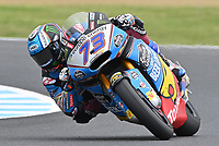 October 27, 2018: Alex Marquez (SPA) on the No.73 KALEX from Eg 0,0 Marc Vds during the Moto2 practice session three at the 2018 MotoGP of Australia at Phillip Island Grand Prix Circuit, Victoria, Australia. Photo Sydney Low