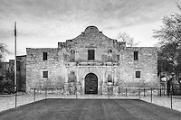 On a nice March morning, this photograph shows the historic Alamo, now a museum honoring those men who died on March 6, 1836 while defending the mission.