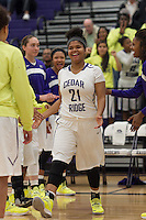 Cedar Ridge's Makyndra Simmons before the start of the game against Bowie at Cedar Ridge Gym, November 19, 2013.  (LOURDES M SHOAF for Round Rock Leader)