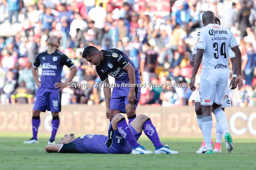 Querétaro, Qro. 22 de abril de 2017.- Empate de Gallos Blancos contra la escuadra de los Jaguares de Chiapas, con un marcador de 2-2, el juego correspondiente a la fecha 15, en el Estadio La Corregidora.