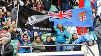 New Zealand and Fiji fans enjoying the atmosphere during Day Two of the iRB Marriott London Sevens at Twickenham on Sunday 11th May 2014 (Photo by Rob Munro)