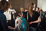 20.1.2015, Potsdam Now Fashion Week. Gezeigt werden moderne, exklusive Kollektionen führender israelischer Designerinnen und Designer. Shani Zimmerman und Zion Anava interpretieren auf sehr unterschiedliche Weise elegante Ready-To-Wear. Danach geht es weiter mit der Kollektion des ebenfalls aus Tel Aviv stammenden, seit 2014 jedoch auch in Amsterdam vertretenen Labels Frau Blau. Efrat Kalig ist berühmt für ihre eindrucksvolle Couture und bildet den Abschluss der Schauen.<br /><br />Backstage vor der Show von Efrat Kalig