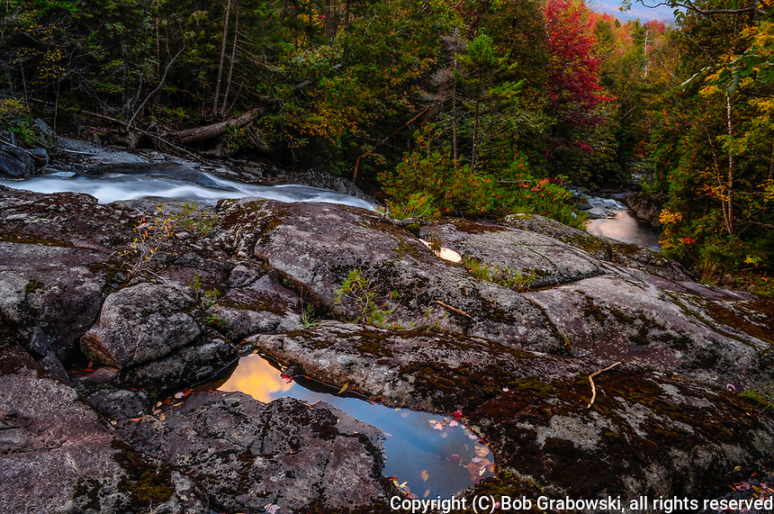 Santanoni Brook in aututmn in the  Adirondack Mountains of New York State