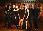 Jelani Remy, Nicole Vanessa Ortiz, Max Sangerman, Alysha Umphress, Dionne D. Figgins, Dwayne Cooper, Emma Degetstedt, John Edwards and Kyle Taylor Parker attends the photo call for the new production of 'Smokey Joe's Cafe' at Feinstein's/54 Below on June 27, 2018 in New York City.