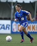Mary-Frances Monroe at Nickerson Field in Boston MA on 7/13/03 during a game between the Boston Breakers and Philadelphia Charge. The Breakers won 3-1.