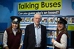 © Joel Goodman - 07973 332324 . 26/09/2016 . Liverpool , UK . Labour Party leader JEREMY CORBYN tours the exhibition . The second day of the Labour Party Conference at the ACC Liverpool . Photo credit : Joel Goodman
