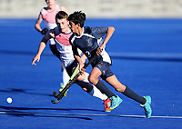 Tauranga Boys High v Hutt Intermediate School. Rankin Cup and India Shield 2019 Secondary School Hockey Tournament, Nga Puna Wai Sports Hub, Christchurch, Monday 02 September 2019. Photo: Martin Hunter/Hockey NZ