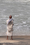 Gandhi ,look alike ,Varkala Beach, Kerala. Varkala, important religious site,