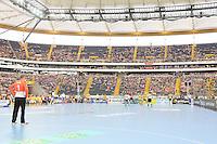 Nicht ganz volle Commerzbank Arena - Tag des Handball, Rhein-Neckar Löwen vs. Hamburger SV, Commerzbank Arena