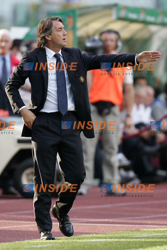 Inter trainer Roberto Mancini <br /> L'allenatore dell'Inter Roberto Mancini<br /> Italy &quot;Tim Cup&quot; 2006-07 - Coppa Italia<br /> 09 May 2007 (Final 1st Leg)<br /> Roma-Inter (6-2)<br /> &quot;Olimpico&quot; Stadium-Rome-Italy<br /> Photographer Andrea Staccioli INSIDE
