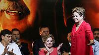SAO PAULO, SP, 20 FEVEREIRO 2013 - 10 ANOS DO PT NO GOVERNO DEMOCRATICO E POLULAR - Presidente da Republica Dilma Rousseff durante evento de 10 anos do PT (Partido dos Trabalhadores) no Governo Democrático e Popular na regiao norte da cidade de Sao Paulo. O evento do PT é o lançamento de uma série de seminários temáticos organizados pelo partidoem parceria com o Instituto Lula ea Fundação Perseu Abramo, para comemorar eavaliar os 10 anos de governo desde a posse de Lula, em 2003. FOTO: WILLIAM VOLCOV - BRAZIL PHOTO PRESS