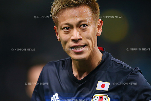 Keisuke Honda (JPN), MARCH 29, 2016 - Football / Soccer : FIFA World Cup Russia 2018 Asian Qualifier Second Round Group E match between Japan 5-0 Syria at Saitama Stadium 2002, Saitama, Japan. (Photo by YUTAKA/AFLO SPORT)