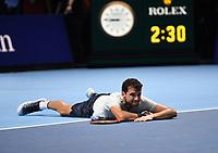 GRIGOR DIMITROV (BUL)<br /> <br /> TENNIS - NITTO ATP FINALS - 02 ARENA, LONDON, UNITED KINGDOM, 2017  <br /> <br /> <br /> <br /> &copy; TENNIS PHOTO NETWORK