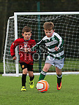 Aaron McGrane (Walshestown) and Jack Smith (Termonfeckin) at the Walshestown V Termonfeckin U9 at Walshestown All Weather.<br /> <br /> Photo - Jenny Matthews