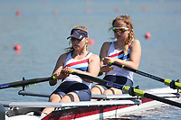 Race: 44  Event: WJ17 2x  A Final<br /> <br /> Junior Sculling Regatta 2018<br /> <br /> To purchase this photo, or to see pricing information for Prints and Downloads, click the blue 'Add to Cart' button at the top-right of the page.